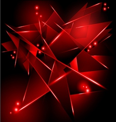 Abstract black background with red geometric vector