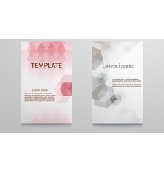Abstract template design-colorful geometric vector image