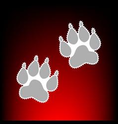 Animal tracks vector