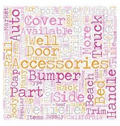 Auto Accessories text background wordcloud concept vector