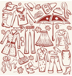 autumn clothes vector image