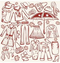 Autumn clothes vector