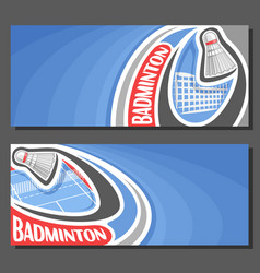 Banners for badminton vector