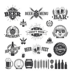 beer label and logos vector image
