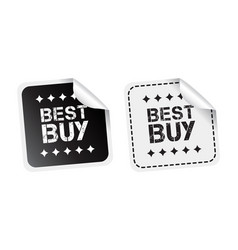best buy sticker black and white vector image