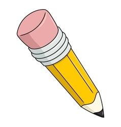 Big yellow pencil 2 vector image