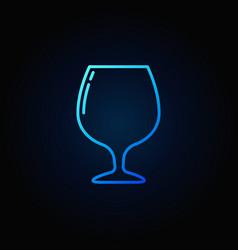 brandy or cognac glass icon vector image