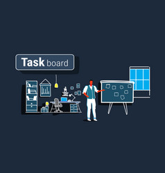 businessman planning weekly meeting schedule on vector image