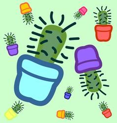 Cactus seamless 1 vector