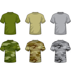 Camouflage shirts vector