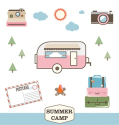 Camping and Travel vector image
