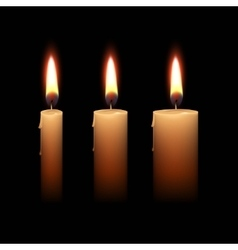Candles Flame Fire Light Isolated Background vector image