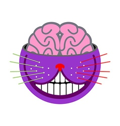 Cheshire Cat Fantastic pet Magic of animal tales vector