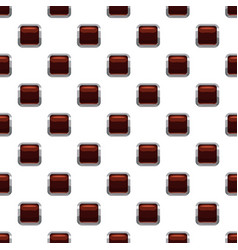 Chocolate square button pattern vector