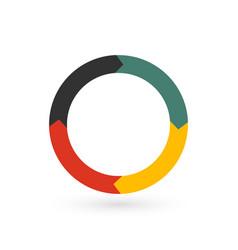 Circular arrows for infographics chart graph vector