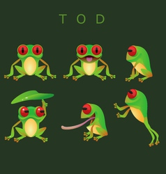 Collection of tod vector image