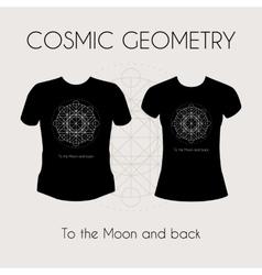 Cosmic Geometry T-Shirt vector