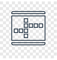 Crossword concept linear icon isolated on vector