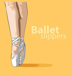 Cute ballet slippers vector