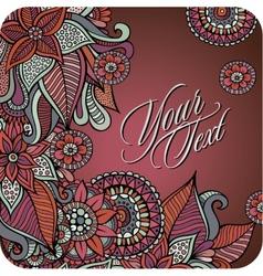 decorative card design vector image
