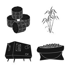 Design sucrose and technology logo vector