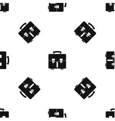 Diplomat bag pattern seamless black vector