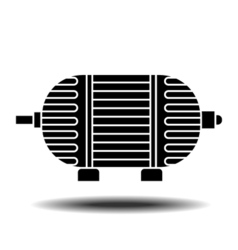 electric motor icon vector image