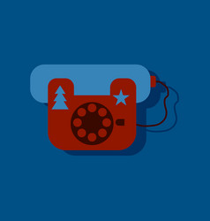flat icon design collection landline phone in vector image