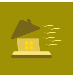 Flat icon on stylish background storm the house vector