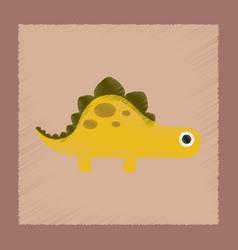 Flat shading style icon cartoon dinosaur vector