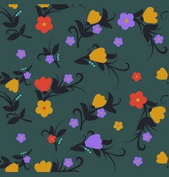floral background for textile fabric and wallpaper vector image