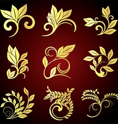 Floral Icon Set vector