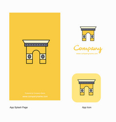 gate company logo app icon and splash page design vector image