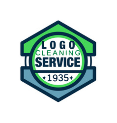 Geometric logo for home and office cleaning agency vector