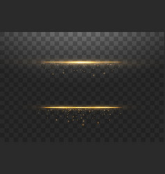 glow isolated gold transparent effect lens flare vector image