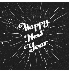 Hand-written Happy New Year with ink beam vector image