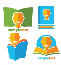 happy reading vector image