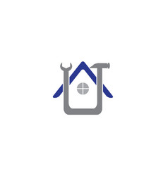 home service hammer tool house maintenance vector image
