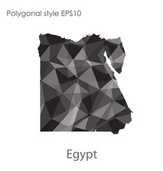 isolated icon egypt map polygonal geometric vector image