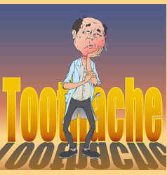 japanese-toothache-03 vector image