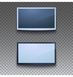 Led tv hanging on wall vector