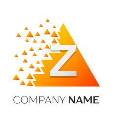 letter z logo symbol on colorful triangle vector image