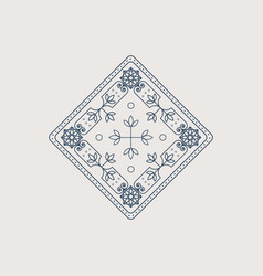 lineart ornament vector image