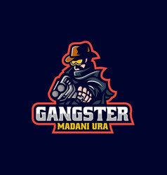 logo gangster e sport and sport style vector image