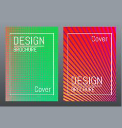 modern cover design color brochure template vector image