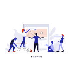 modern flat design concept - teamwork vector image