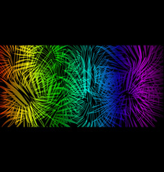 neon background in lights and fireworks vector image