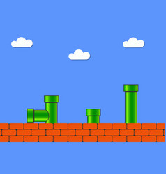 old video game background vector image