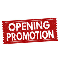 opening promotion sign or stamp vector image