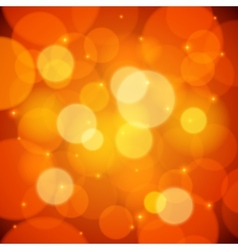 Orange bokeh effect abstract background vector image